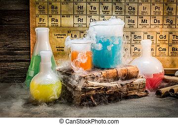 dynamique, leçon, réaction, chimique, chimie, pendant