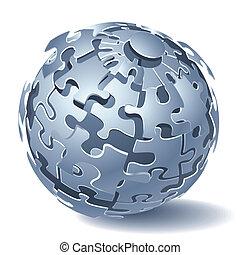 dynamique, puzzle, puzzle, explosion