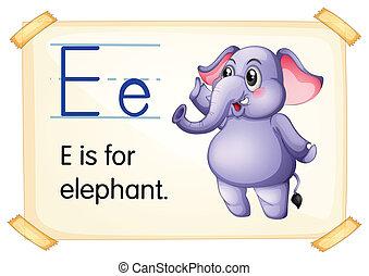 e, lettre