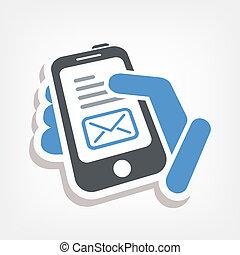 e-mail, smartphone, icône