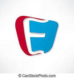 e, résumé, basé, lettre, icône