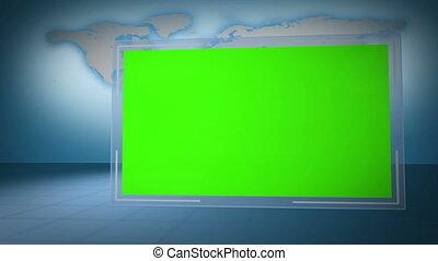 eart, clã©, vidéo, chroma, vert
