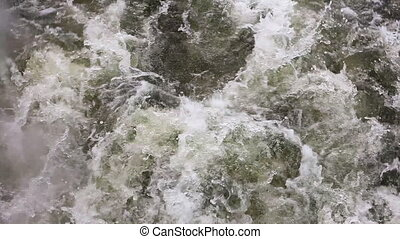 eau, ébullition, vapeur, lourd