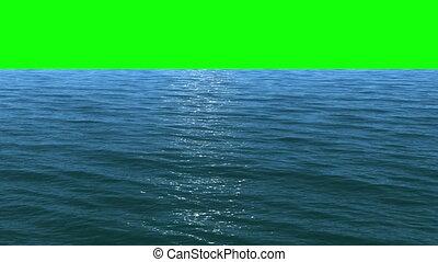 eau, écran, vert