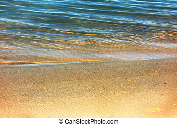 eau, été, plage, fond, brouillé