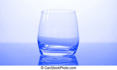 eau, bleu, -, vue, hd, verre, devant