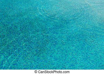 eau bleue, ensoleillé, surface.