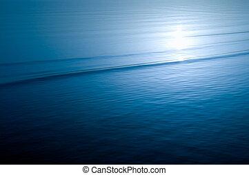 eau bleue, ondulations
