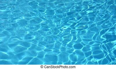 eau bleue, piscine, natation