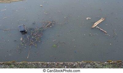 eau, canal, pollution
