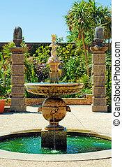 eau, château, fontaine, arundel