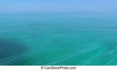 eau, clair, mer caraïbes