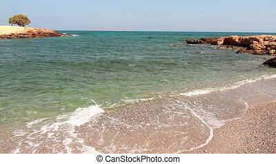 eau, clair, mer