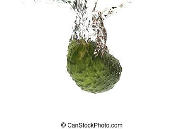 eau, concombre, closeup