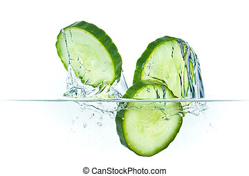 eau, concombre