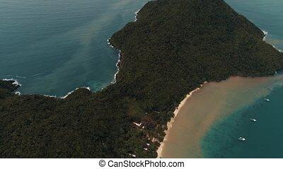 eau, coup, couleur, île, corail, après, sable, teint, exotique, mélange, bourdon, pluie, mer, thaïlande, clair, adaman