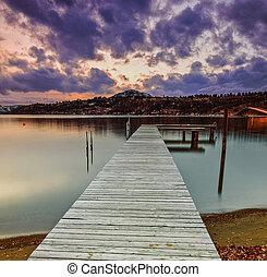 eau, dock