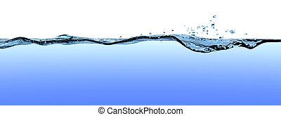 eau, drops., vagues, surface, ondulations