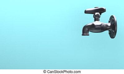eau, espace, bleu, texte, robinet