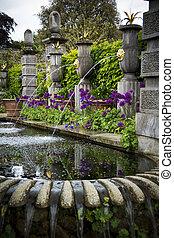 eau, featur, jardin d'agrément