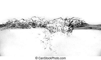 eau, fond blanc, vagues