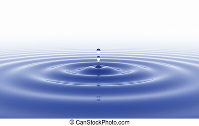 eau, fond, goutte, blanc