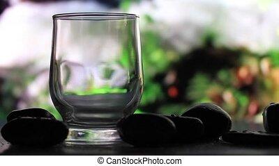 eau, fond, verre