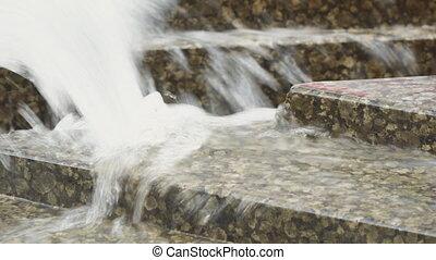 eau, granit, fontaine, ruisseau
