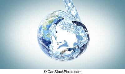 eau, la terre, remplit