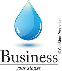 eau, logo, goutte