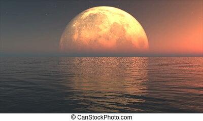 eau, lune