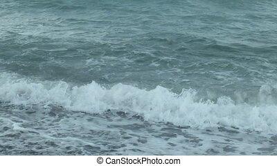 eau, noir, texture, mer