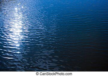 eau, ondulé, surface