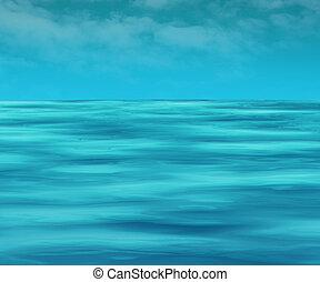 eau, propre, surface