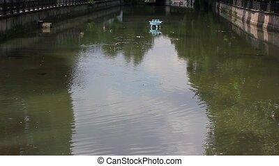 eau, rivière, surface