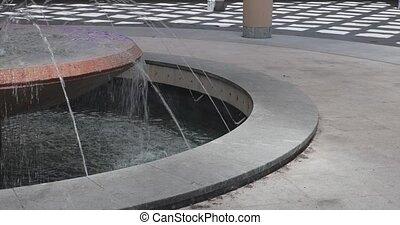 eau, rond, fontaine