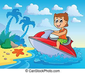 eau, thème, sport, image, 4