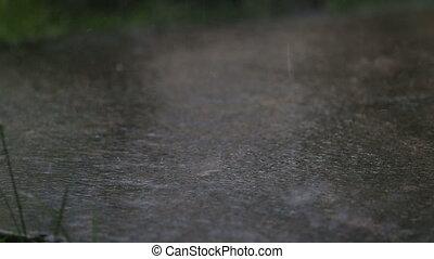 eau, tropiques, sale, écoulement