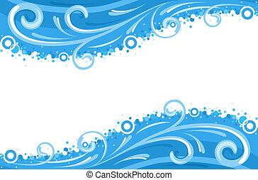 eau, vagues, frontières