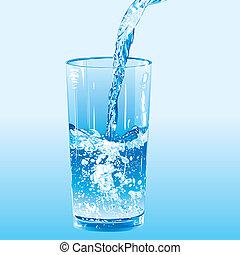 eau, versé, culbuteur