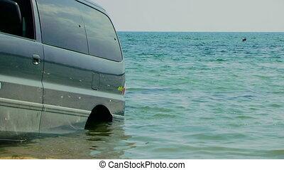 eau, voiture