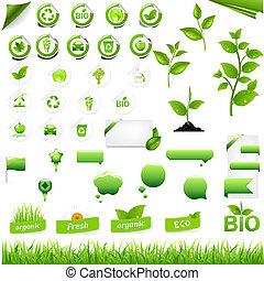 eco, éléments, collection