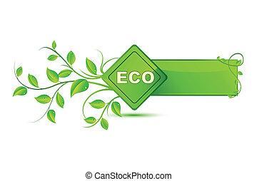 eco, étiquette, amical