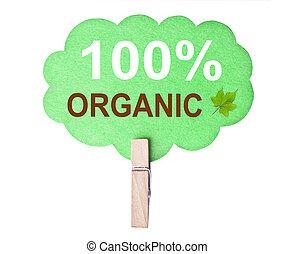 eco, 100%, organique, amical, label.