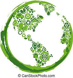eco, -, 2, concept, planète