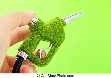 eco, carburant, lance, concept., énergie