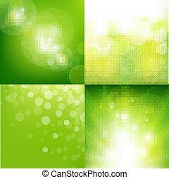 eco, fond, ensemble, vert, barbouillage
