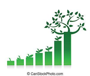 eco, graphique, conception, diagramme, illustration