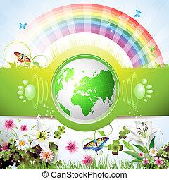 eco, la terre, vert