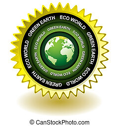 eco, la terre, vert, icône